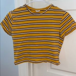Yellow striped shirt from garage